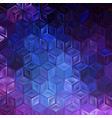 abstract geometric pattern with cubes vector image