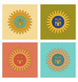 assembly flat icons emblem of ukraine vector image vector image