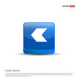 back icon - 3d blue button vector image