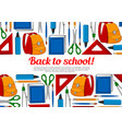 back to school education poster vector image vector image