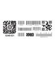barcode supermarket scanned identification vector image