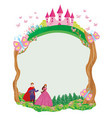 beautiful prince and princess in the garden vector image