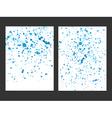 blue drops watercolor background vector image vector image
