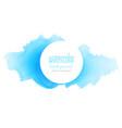blue ink splash watercolor texture background vector image vector image