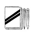 book pencil and pen design vector image