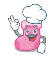 chef sock character cartoon style vector image