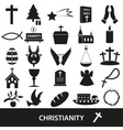 christianity religion symbols set of icons eps10 vector image vector image