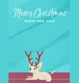 christmas and new year holiday chihuahua dog card vector image vector image