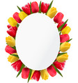Colorful tulip flowers background Happy mothers
