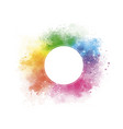 colorful watercolor with blank circle vector image
