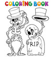 coloring book halloween character 6 vector image