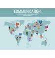 communication logo design template vector image vector image