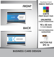 Corporate Business Card Ribbon Template vector image vector image