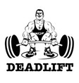 deadlift logo label vector image