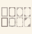 decorative frames set curved graphic ornament vector image vector image