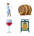 design grape and winery symbol vector image