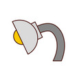 desk lamp isolated icon vector image vector image