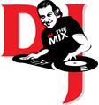 dj in mix vector image vector image