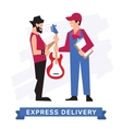 Express Delivery Symbols icon vector image