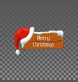 festive wooden sign board with words merry vector image vector image