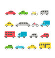 flat design car set vector image vector image