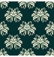 Floral seamless pattern in green and beige colors vector image vector image