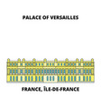 france ile-de-france - palace and park of vector image