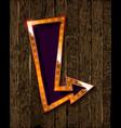 gold retro arrow with lights