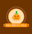 halloween sale style with ghost pumpkin vector image