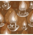 Hand drawn white silhouette candles vector image vector image