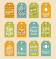 happy easter hand lettering greeting cards vector image vector image