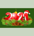 happy new year 2021 numbers vector image vector image
