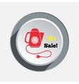 Home electric kettle Christmas sale icon vector image