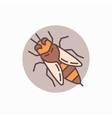 Honey bee flat icon vector image vector image