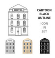 hotel building icon in cartoon style isolated on vector image vector image