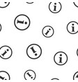 information icon seamless pattern background vector image vector image