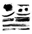 ink brush stroke different grunge art texture vector image vector image