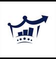 king seo logo search engine optimization economic vector image vector image