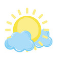 light sun spring weather with clouds vector image vector image