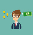 man make money from idea vector image vector image