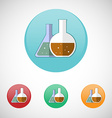 Medical mixtures in flasks icon set vector image vector image