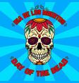 mexican sugar skull day dead design vector image vector image