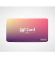 Modern simple gift card template