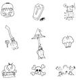 Object Halloween doodle set vector image vector image