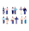 office people conversation meeting characters vector image vector image