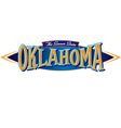 Oklahoma The Sooner State vector image