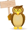 owl with blank signboard vector image
