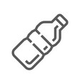 plastic bottle line icon vector image vector image