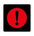 Problem flat intensive red and black colors vector image vector image