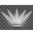 Realistic white gray glowing spotlights on vector image vector image